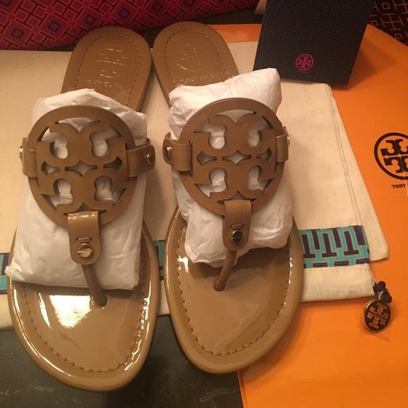 450eb0dea Tory Burch tan patent miller sandal size7.5